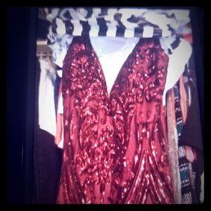 Size 14 Beaded Prom Dress